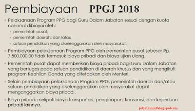 biaya ppgj  tahun 2018 2019 2020