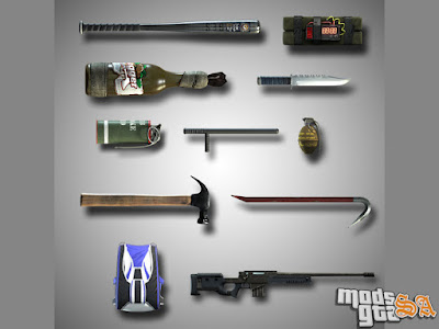 Pack de Armas do GTA 5 para GTA San Andreas