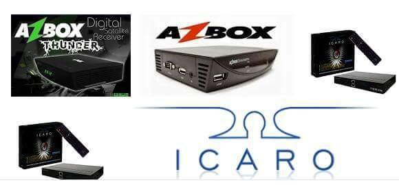 AZBOX THUNDER/BRAVISSIMO PLUS NOVA ATUALIZAÇÃO MODIFICADA EM ICARO XF-5001 - 04/06/2017