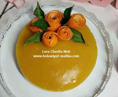 حلى بارد بالبرتقال بدون فرن سهل ولذيذ