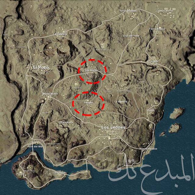 خريطة Miramar الصحراء