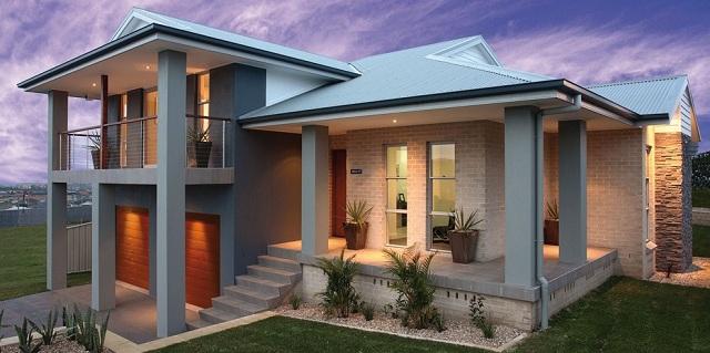 Fachadas Casas De Dos Pisos Con Terraza Arriba Modernas