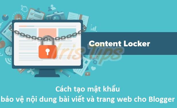 Tạo Password cho bài viết bất kì trong Blogger/blogspot