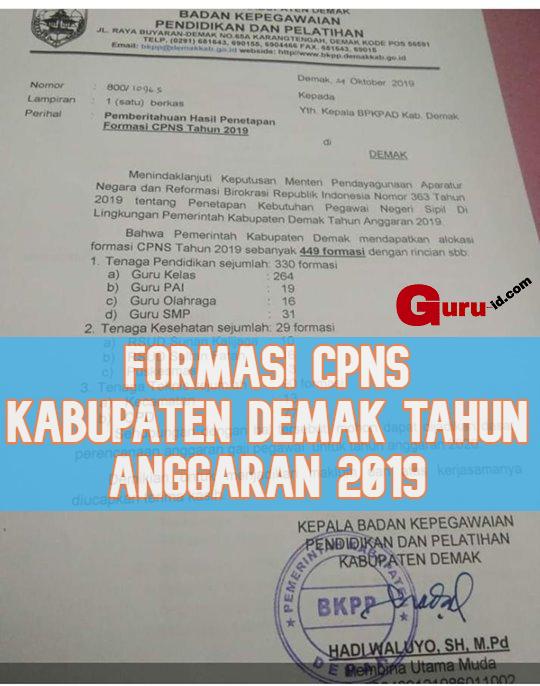 GAMBAR FORMASI CPNS DEMAK 2019