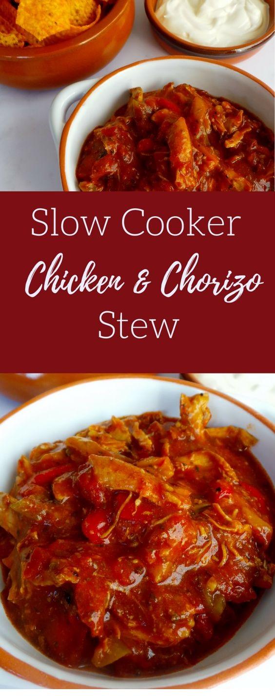 Slow Cooker Chicken & Chorizo Stew