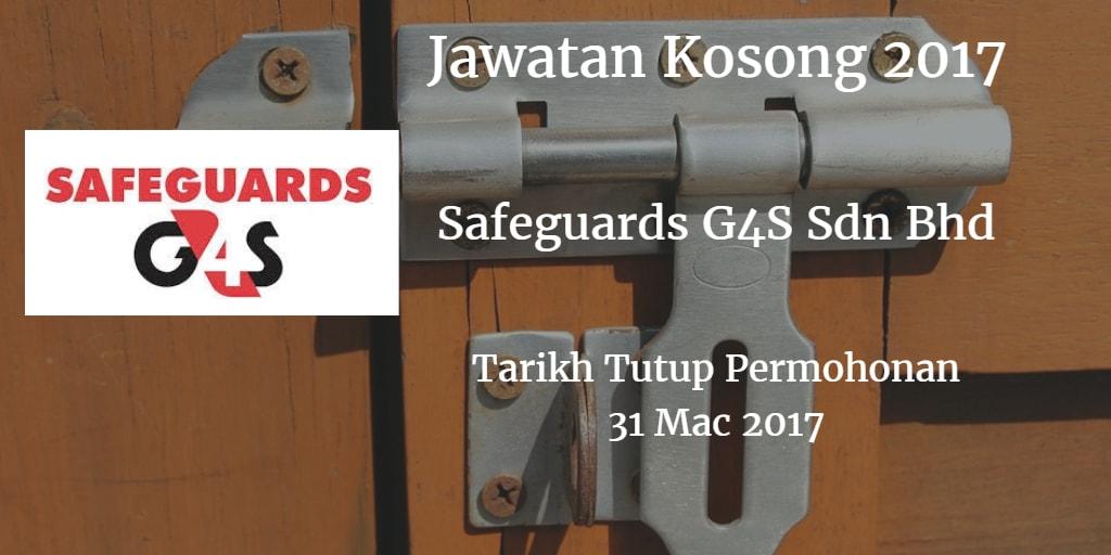 Jawatan Kosong Safeguards G4S Sdn Bhd 31 Mac 2017