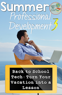 As part of my Summer Professional Development series, I've got the third post for you, which is all about how to turn your vacation into a lesson. Learn how to use a choice board to help students use technology to get to know one another and share about their summer vacations. Click through to get the full tutorial!