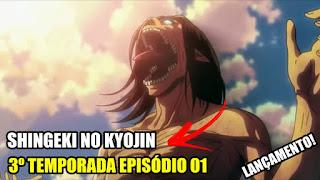 Shingeki no Kyojin 3 Data de Lançamento !
