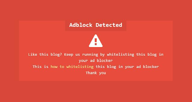 Notifikasi adblock