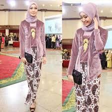 Model Baju Muslim Kombinasi Kebaya Untuk Anak Muda