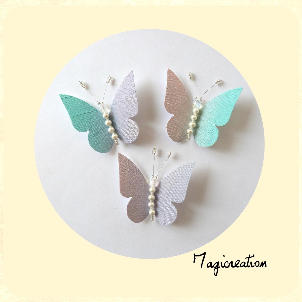 magicrea papillons pastels en soie pour rideaux