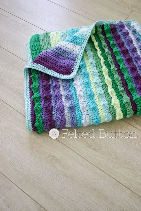 Eventide Blanket Crochet Pattern by Susan Carlson of Felted Button