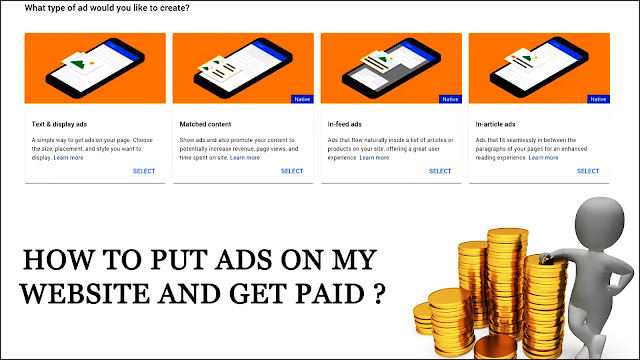 how to put ads on my website and get paid ?,how to put ads on website for free,ads for website,