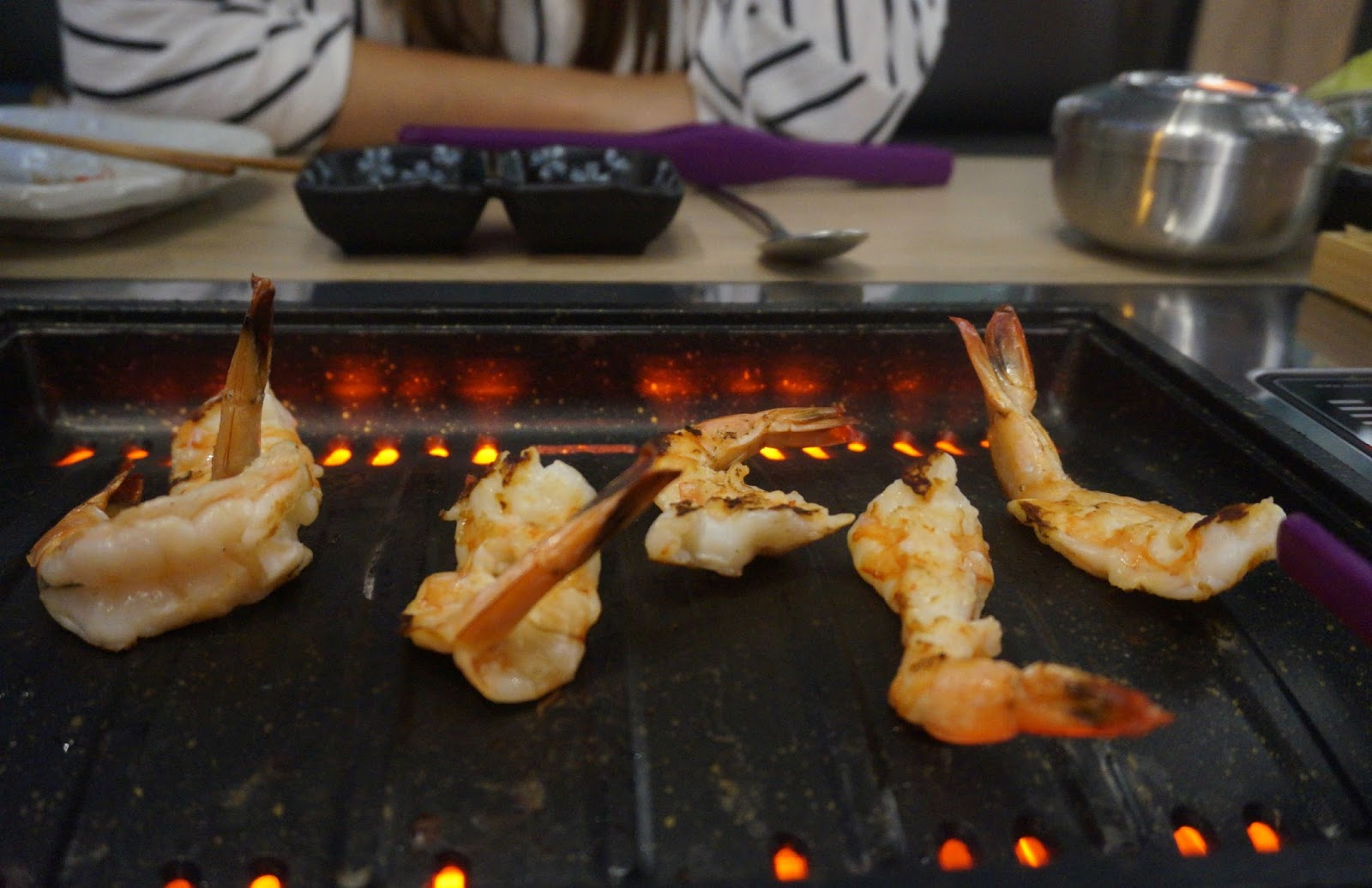 Korean BBQ with prawns