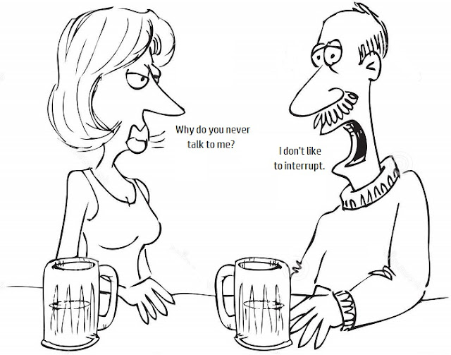 Funny marriage why do you never talk to me cartoon joke picture