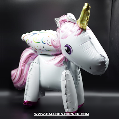 Balon Foil Leap Unicorn 3D (MURAH)