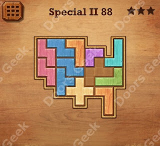 Cheats, Solutions, Walkthrough for Wood Block Puzzle Special II Level 88