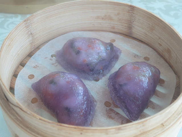 Steamed Violet Vegetable Dumpling