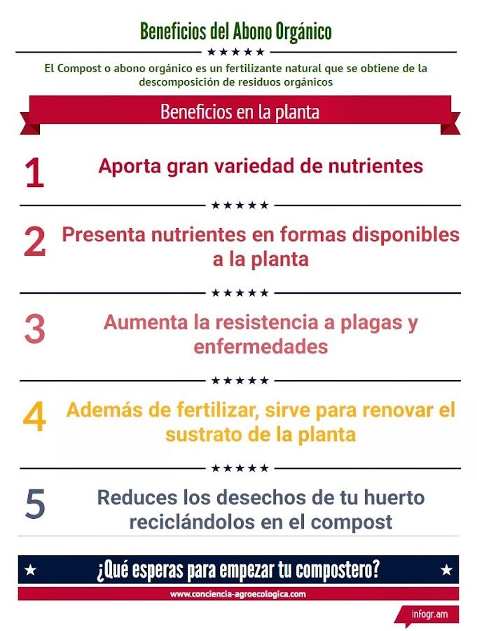Ventajas de usar abono orgánico o compost