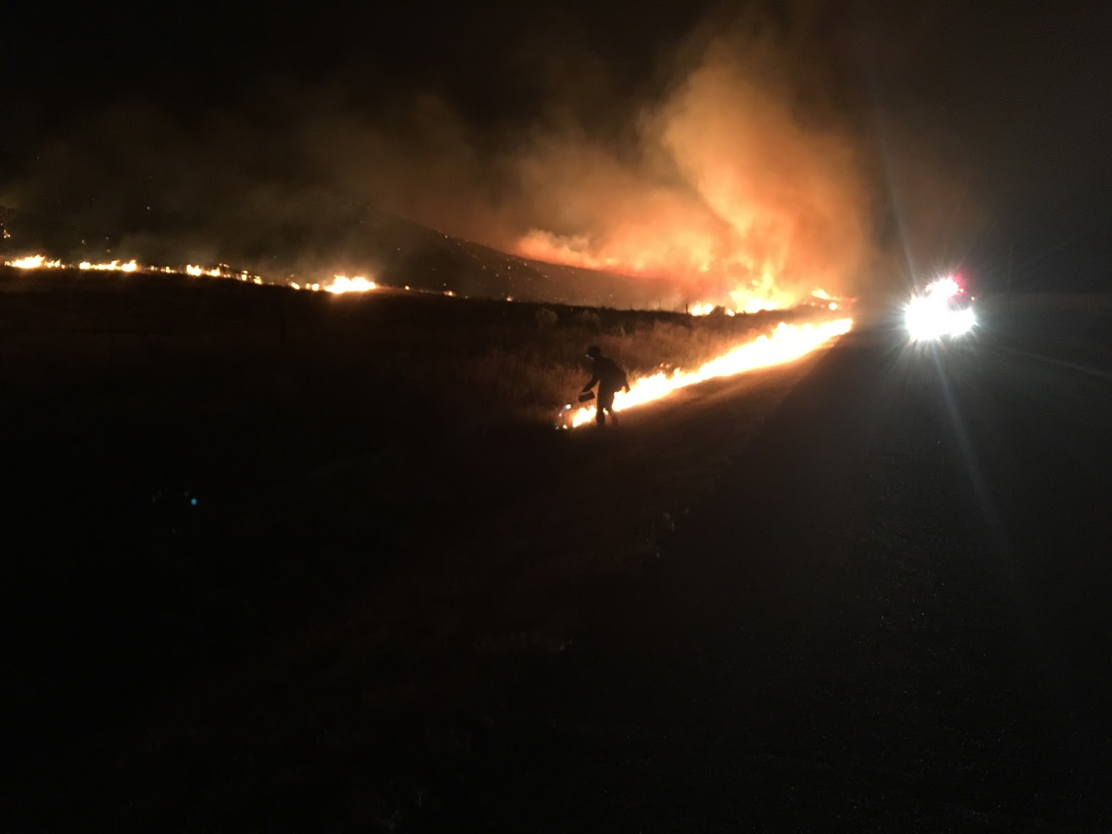 Idaho Fire Information: Powerline Fire AM Update