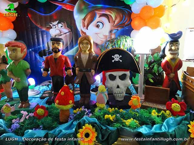Decoração mesa de aniversário Peter Pan - Festa infantil