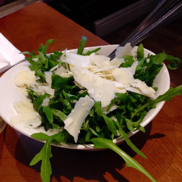 Rocket and Parmesan salad at Boboli