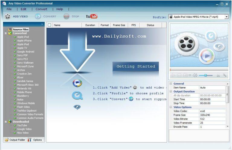ANY VIDEO CONVERTER ULTIMATE 6.2.9 CRACK & KEY