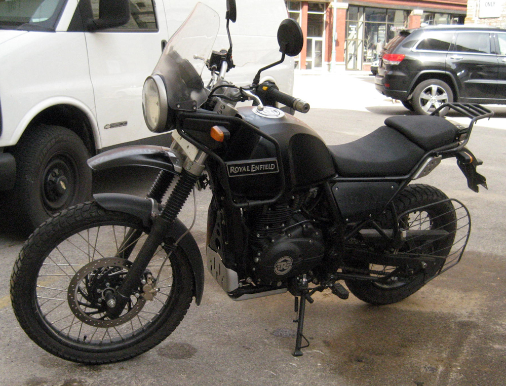 Royal Enfield Himalayan motorcycle.