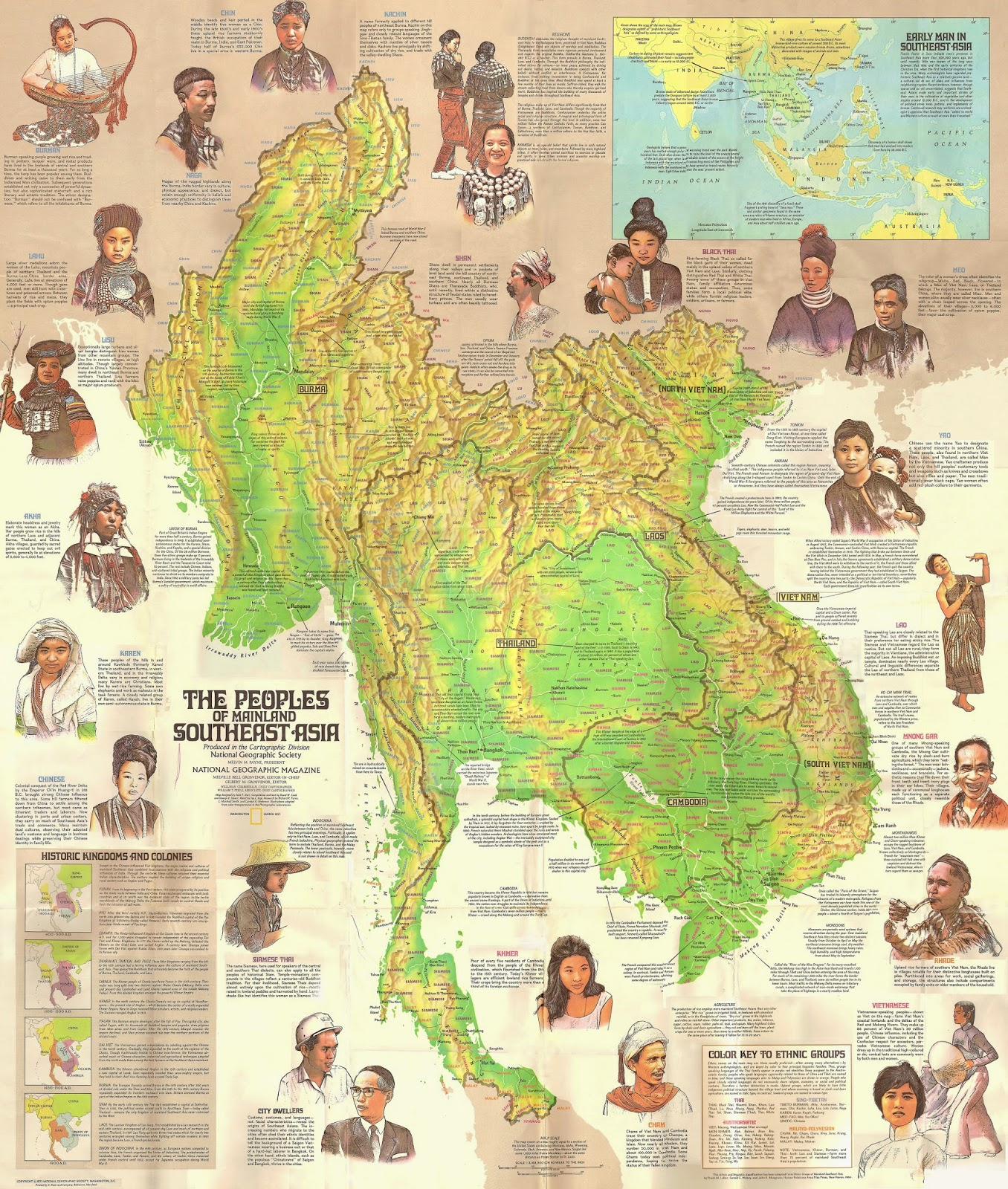 Map of Southeast Asia  Hinduized states of Indian Ocean Community     Peoples Of Mainland Southeast Asia Map 1971
