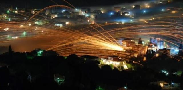 Tradisi Perang Rocket Chios Yunani