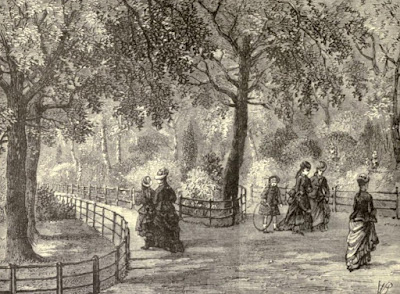 Flower walks, Kensington Gardens  from Old and New London by E Walford (1878)