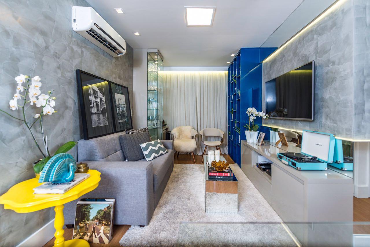 Apartamento De 50m Bem Aproveitados Lar Doce Casa -> Cor De Parede Para Sala Amarelo