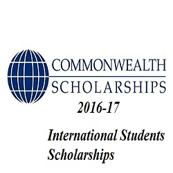 Commonwealth Scholarships 2016-17
