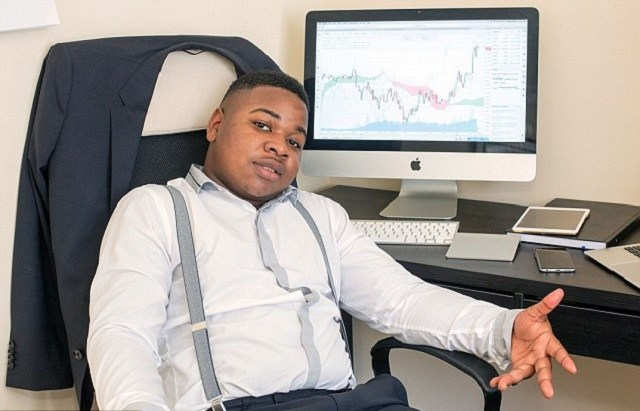 Robert makes money trading on an exchange, sitting in his office home.