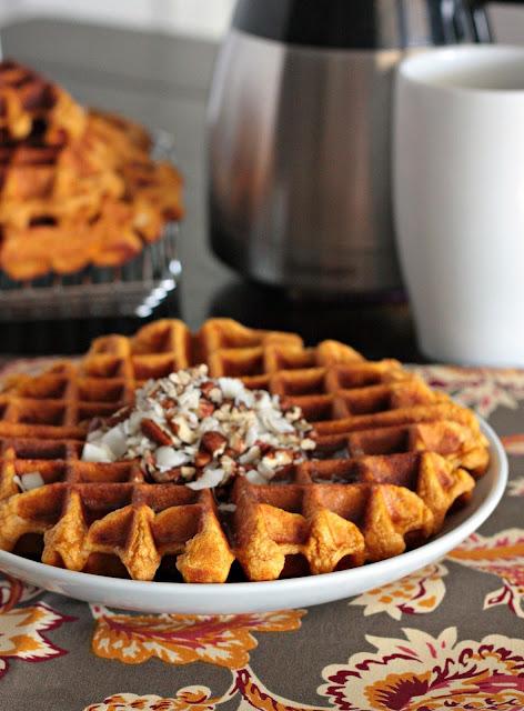 sweet potato coconut waffles
