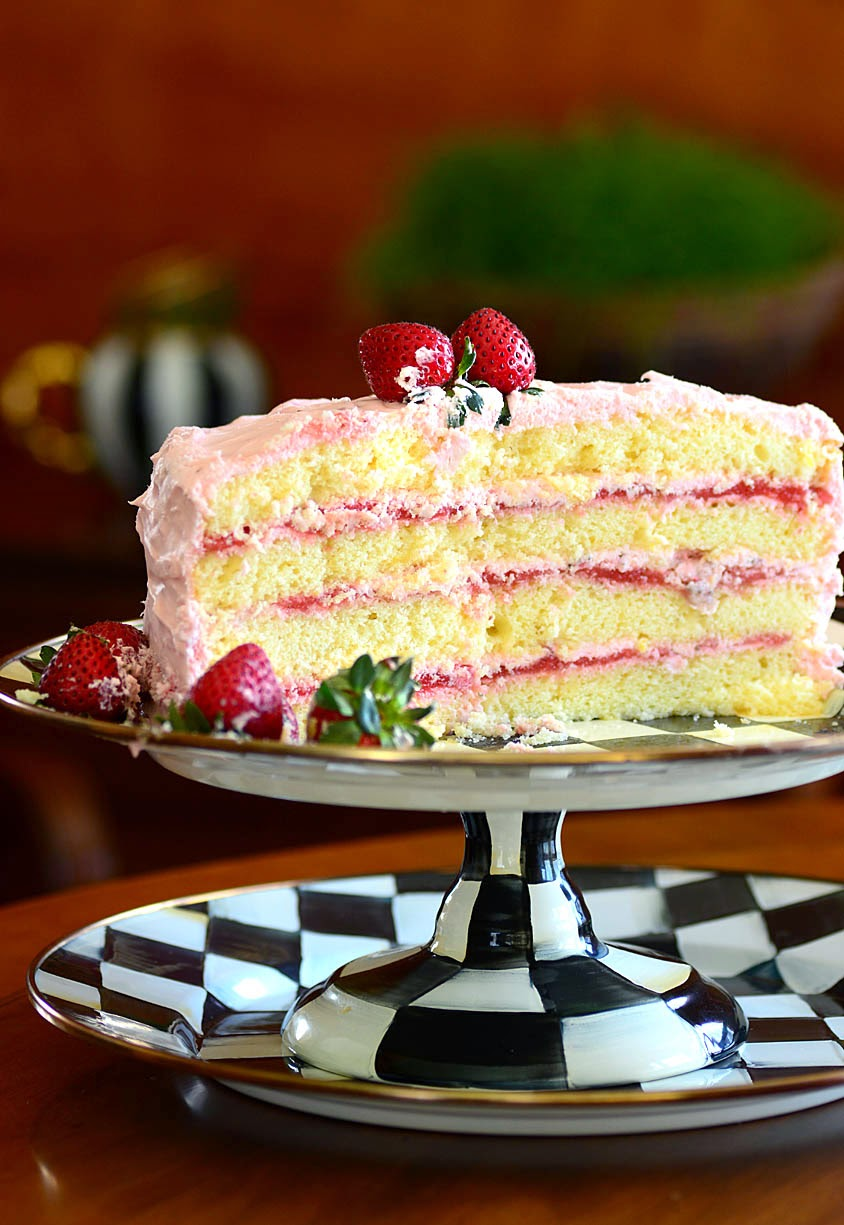 Savoring Time In The Kitchen Strawberry Lemonade Layer Cake