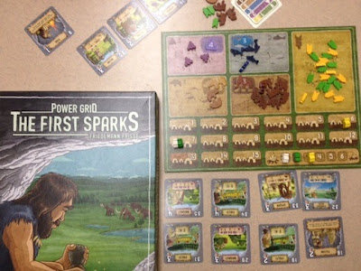 Power Grid: The First Sparks board game in play