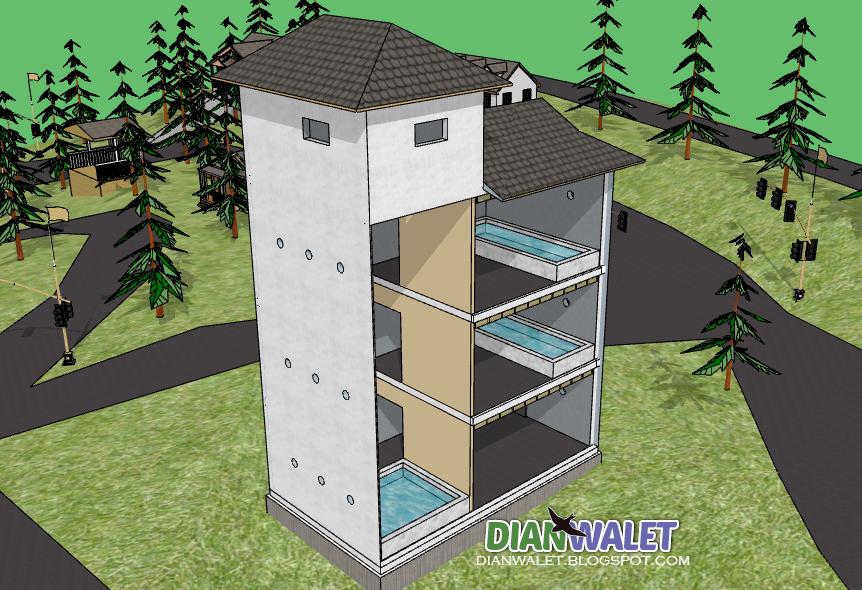 Desain Rumah Walet Dari Kayu 4x6 Sekitar Rumah