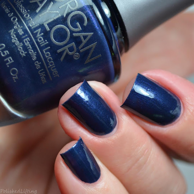 dark blue pearl nail polish