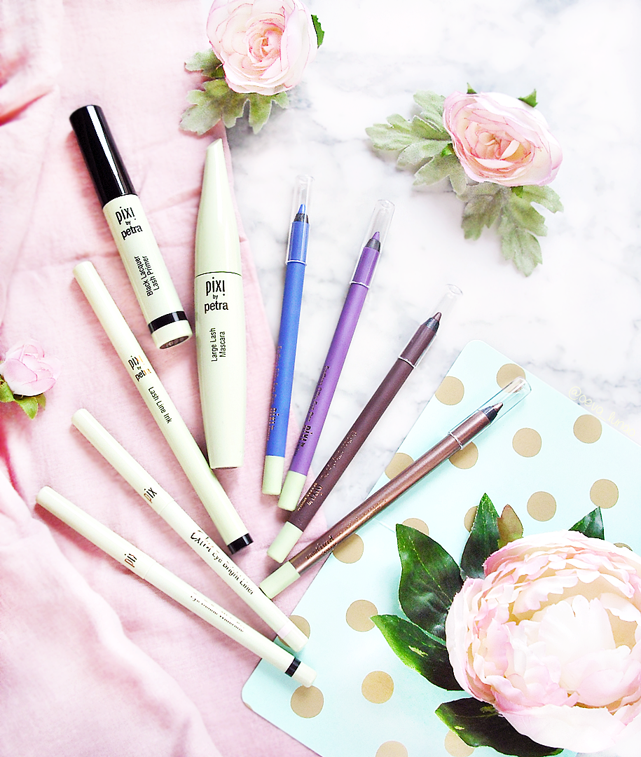 Pixi Beauty - mascara and waterproof liners - review swatch make-up