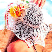 Sobrero Volado a Crochet