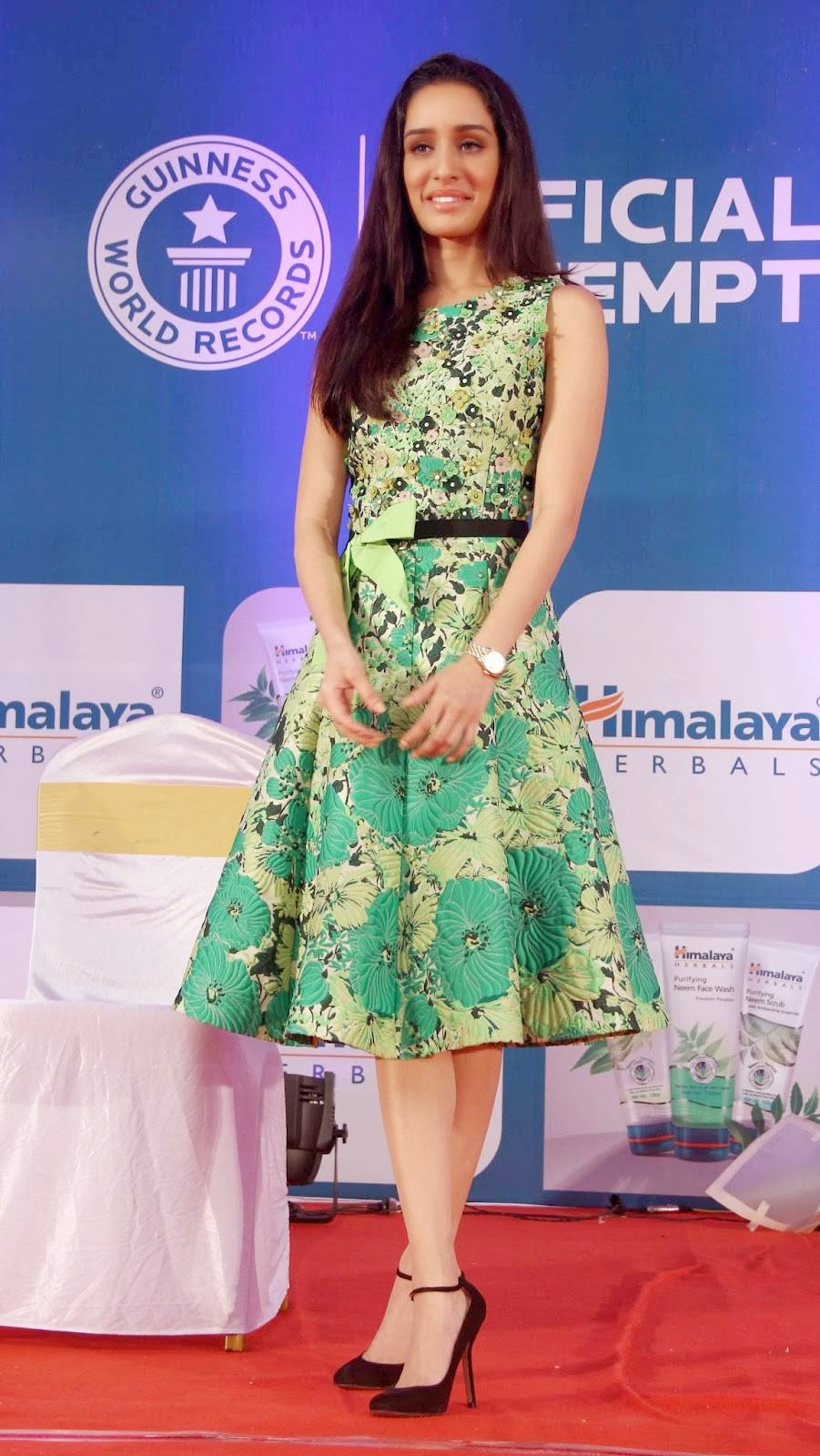Actress Shraddha Kapoor Latest Cute Hot Exclusive Spicy Photos Gallery At Himalaya Herbals Event