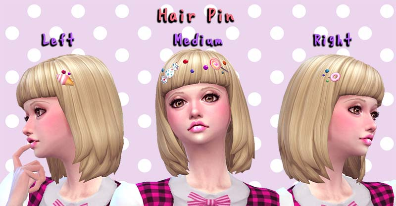 Hair Pin at A-luckyday » Sims 4 Updates