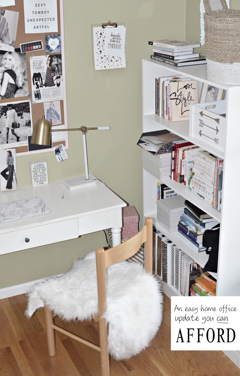 How to create an affordable & inspiring home office {even in a small space}