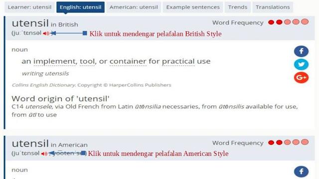 cara belajar pelafalan kata bahasa inggris di internet