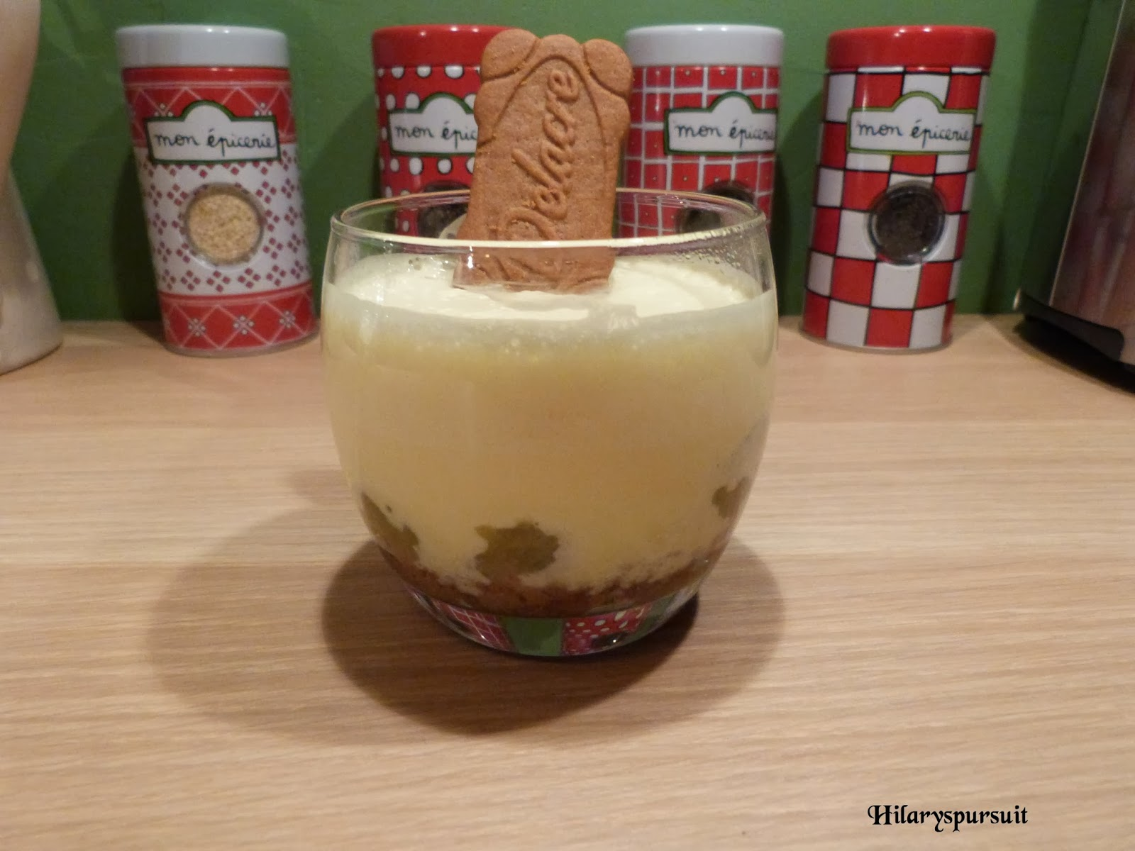 Trifle rhubarbe spéculoos
