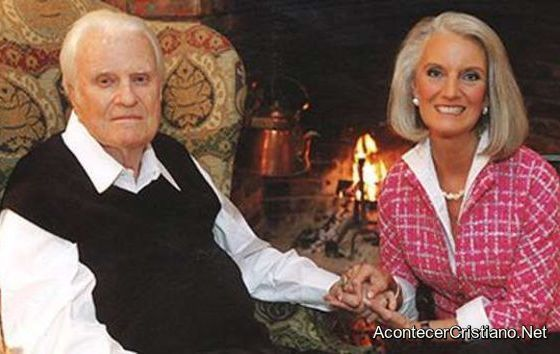 Billy Graham con su hija Anne Graham