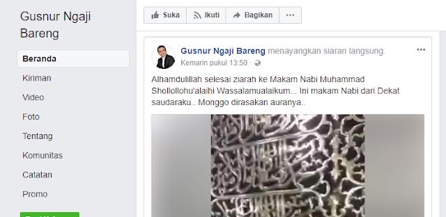 Ziarah di Mekah, Sugi Nur tulis Shalawat ''Shollollohu'alaihi Wassalamualaikum''