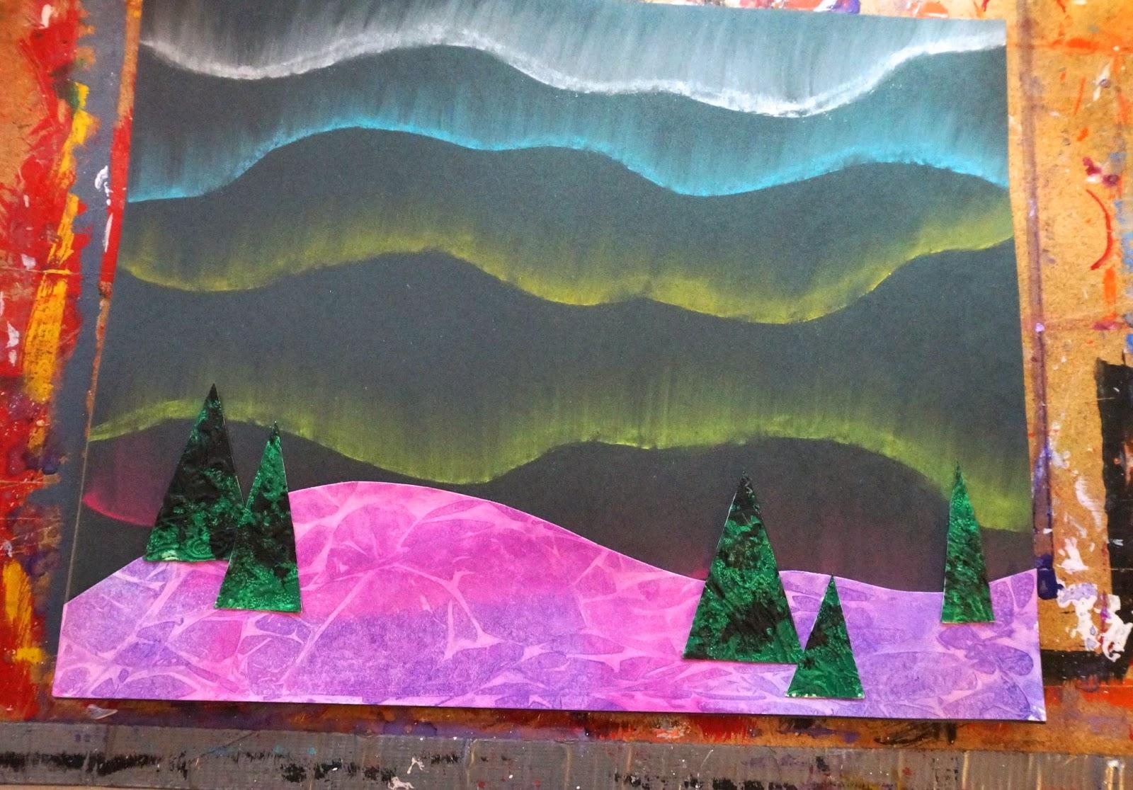 Northern Lights Art Ks1