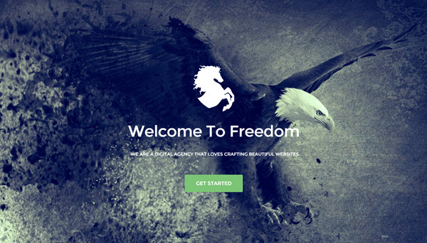 freedom blogger template
